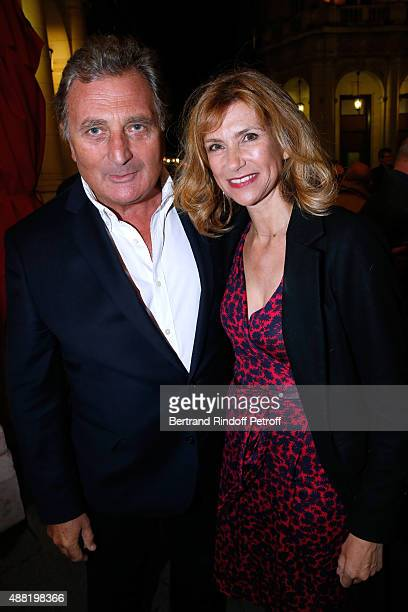 Actress Florence Pernel and her husband Patrick Rotman attend 'Le Mensonge' Theater Play Held at Theatre Edouard VII on September 14 2015 in Paris...