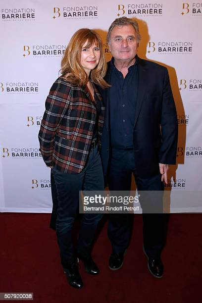 Actress Florence Pernel and her husband Patrick Rotman attend the Theater Price 2015 of Foundation Diane Lucien Barriere given to the Theater Piece...