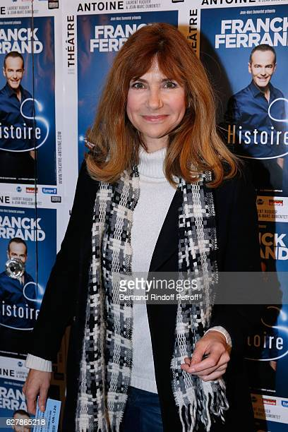 Actress Florence Pernel attends Franck Ferrand performs in his Show Histoires at Theatre Antoine on December 5 2016 in Paris France