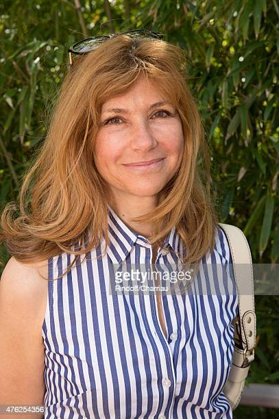 Actress Florence Pernel attends the Men Final of 2015 Roland Garros French Tennis Open Day Fithteen on June 7 2015 in Paris France