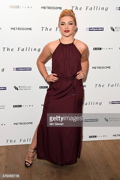 Actress Florence Pugh attends the London gala screening of 'The Falling' at Ham Yard Hotel on April 20 2015 in London England
