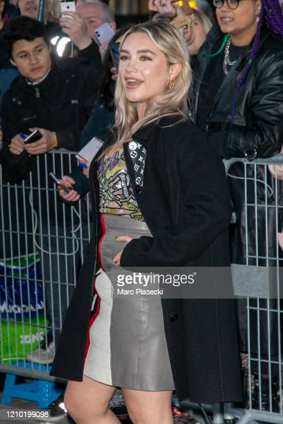 Actress Florence Pugh attends the Louis Vuitton show as part of the Paris Fashion Week Womenswear Fall/Winter 2020/2021 on March 03, 2020 in Paris,...