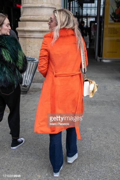Actress Florence Pugh is seen on March 04, 2020 in Paris, France.