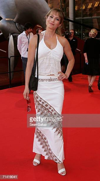 """Actress Florentine Lahme arrives at the German premiere of """"Poseidon"""" July 11, 2006 at the Berlinale Palast in Berlin, Germany."""