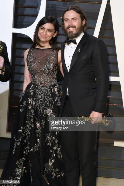 Actress Floriana Lima and actor Casey Affleck attends the 2017 Vanity Fair Oscar Party hosted by Graydon Carter at Wallis Annenberg Center for the...