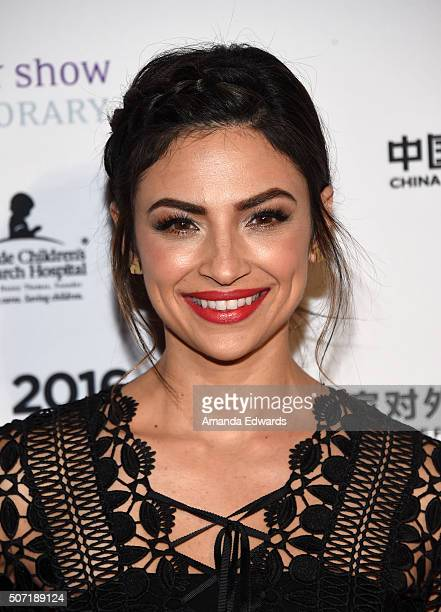 Actress Floriana Lima arrives at the LA Art Show and Los Angeles Fine Art Show's 2016 Opening Night Premiere Party benefiting St Jude Children's...