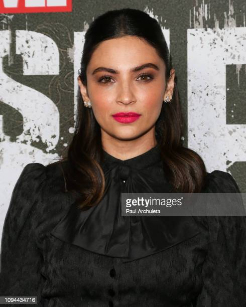 Actress Floriana Lima attends Marvel's 'The Punisher' Los Angeles premiere at the ArcLight Hollywood on January 14 2019 in Hollywood California
