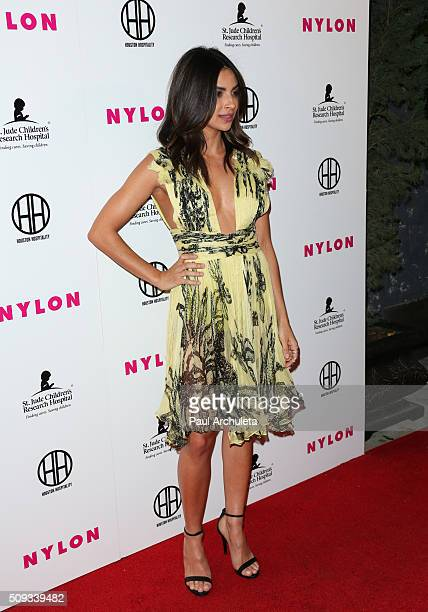 Actress Floriana Lima attends NYLON Magazine's Muses And Music Party at No Vacancy on February 9 2016 in Los Angeles California