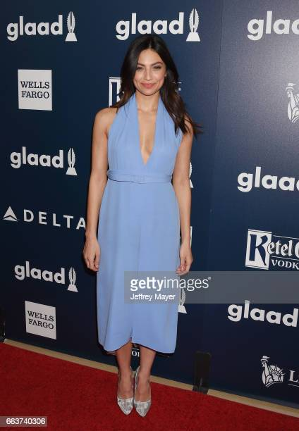 Actress Floriana Lima attends the 28th Annual GLAAD Media Awards in LA at The Beverly Hilton Hotel on April 1 2017 in Beverly Hills California