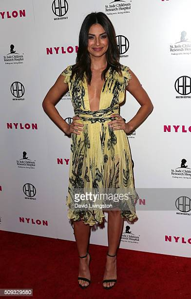 Actress Floriana Lima attends the Muses and Music party hosted by NYLON Magazine at No Vacancy on February 9 2016 in Los Angeles California