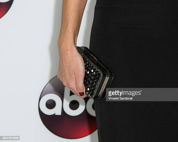 Actress Floriana Lima purse detail attends the 2016 Winter TCA Tour Disney/ABC at Langham Hotel on January 9 2016 in Pasadena California