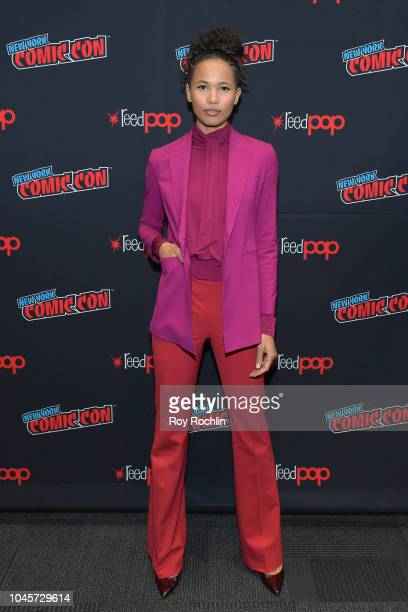 Actress Fola EvansAkingbola attends the Siren Panel during New York Comic Con 2018 at Javits Center on October 4 2018 in New York City