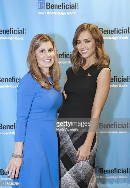 Actress Founder and Chief Creative Officer of The Honest Company Jessica Alba poses for a photo with Executive Vice President and Chief...