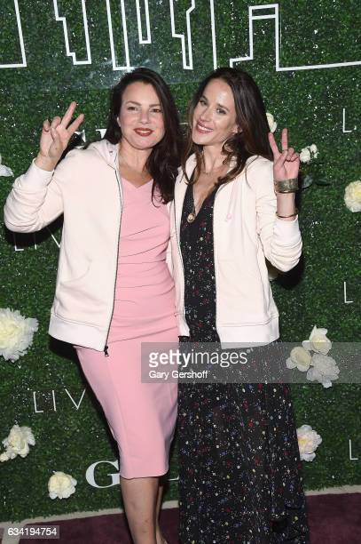 Actress Fran Drescher and Livelihood founder Ashley Biden attend the Gilt x Livelihood launch event at Spring Place on February 7 2017 in New York...