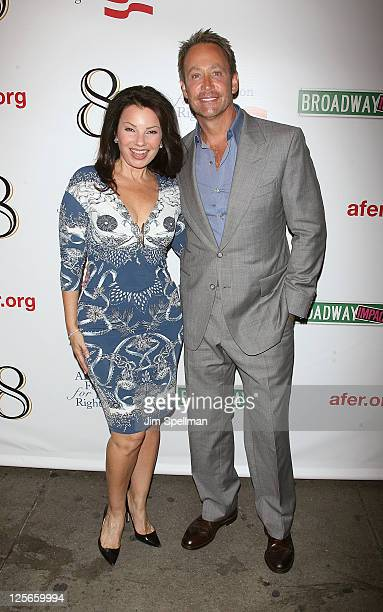Actress Fran Drescher and Peter Marc Jacobson attend the opening night of '8' on Broadway at the Eugene O'Neill Theatre on September 19 2011 in New...
