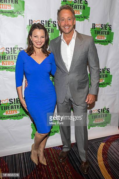 Actress Fran Drescher and Television Producer Peter Marc Jacobson attend Rosie's Theater Kids 10th Anniversary Gala at The New York Marriott Marquis...