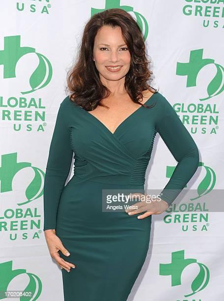 Actress Fran Drescher arrives at Global Green USA's annual Millennium Awards at Fairmont Miramar Hotel on June 8 2013 in Santa Monica California
