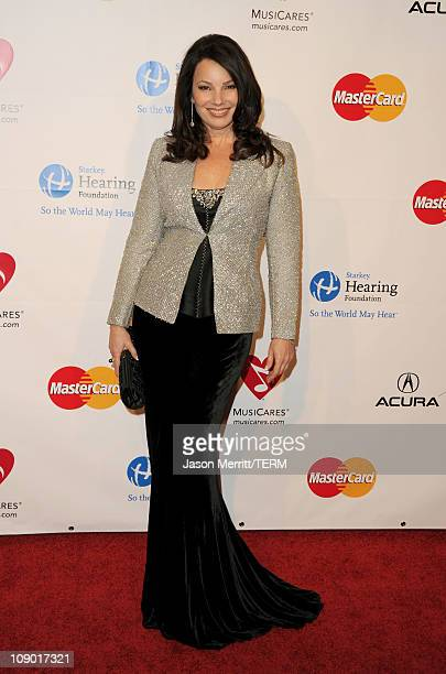 Actress Fran Drescher arrives at the 2011 MusiCares Person of the Year Tribute to Barbra Streisand held at the Los Angeles Convention Center on...
