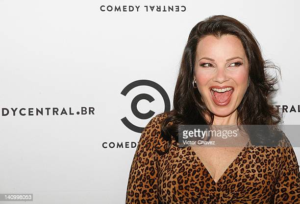 Actress Fran Drescher attends a photocall to promote her new tv show Happily Divorced at the St Regis Hotel on March 9 2012 in Mexico City