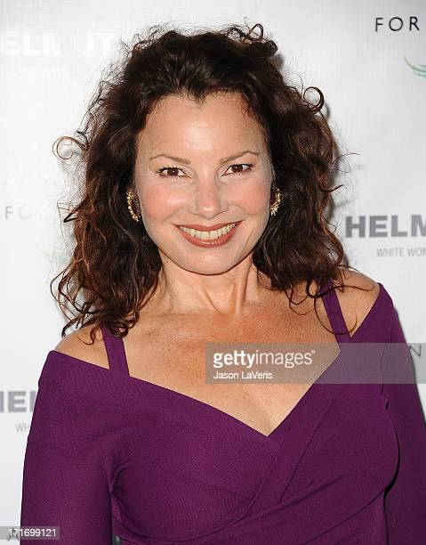 Actress Fran Drescher attends the opening of 'Helmut Newton White Women Sleepless Nights Big Nudes' at Annenberg Space For Photography on June 27...