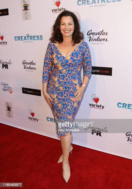 "Actress Fran Drescher attends the premiere of ""The Creatress"" at iPic Westwood on July 31, 2019 in Westwood, California."
