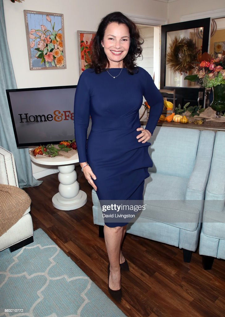 Actress Fran Drescher visits Hallmark's 'Home & Family' at Universal Studios Hollywood on October 19, 2017 in Universal City, California.