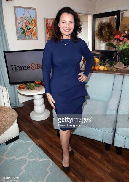 Actress Fran Drescher visits Hallmark's 'Home Family' at Universal Studios Hollywood on October 19 2017 in Universal City California