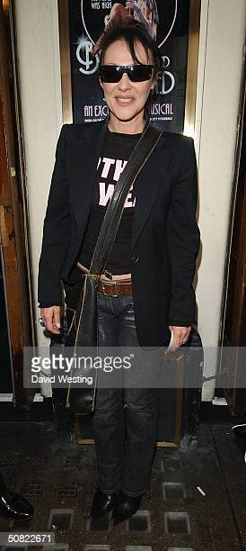 """Actress Frances Barber attends press night for """"Beautiful And Damned,"""" a new musical based on the lives of American novelist F Scott Fitzgerald and..."""