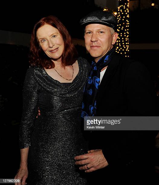 """Actress Frances Conroy and producer/creator Ryan Murphy pose at the after party for FX Network's """"American Horror Story"""" at the Hollywood Roosevelt..."""