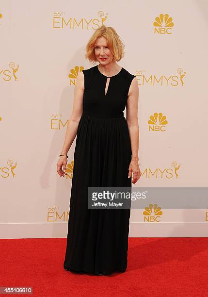 Actress Frances Conroy arrives at the 66th Annual Primetime Emmy Awards at Nokia Theatre LA Live on August 25 2014 in Los Angeles California