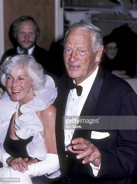 Actress Frances Dee and actor Joel McCrae attend 55th Annual Academy Awards Governor's Ball on April 11 1983 at the Beverly Hilton Hotel in Beverly...