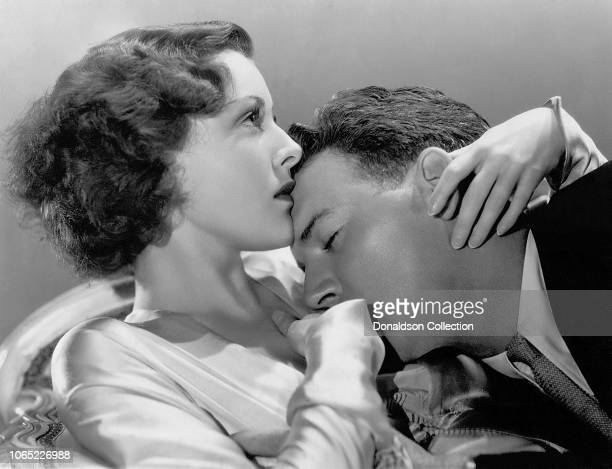 Actress Frances Dee and William Gargan in a scene from the movie Headline Shooter