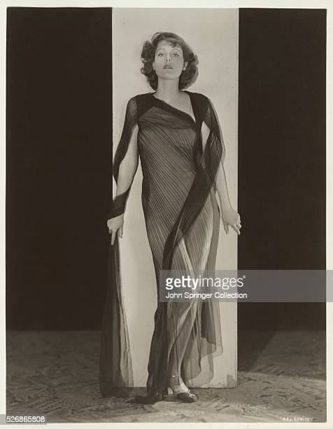 Actress Frances Dee Wearing a Sheer Evening Gown