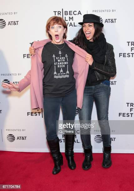 Actress Frances Fisher and Rosario Dawson attend the 2017 Tribeca Film Festival 'Awake: A Dream From Standing Rock' at Cinepolis Chelsea on April 22,...