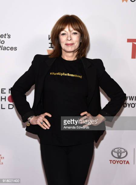 Actress Frances Fisher arrives at the 2018 Women In The World Los Angeles Salon at NeueHouse Hollywood on February 13 2018 in Los Angeles California