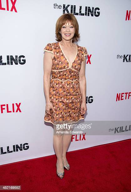 Actress Frances Fisher arrives at the Los Angeles premiere of Season 4 of the Netflix Original Series The Killing at ArcLight Hollywood on July 14...