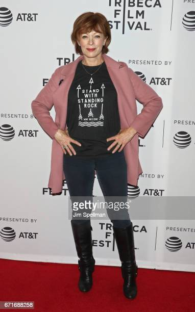 Actress Frances Fisher attends Awake A Dream From Standing Rock during the 2017 Tribeca Film Festival at Cinepolis Chelsea on April 22 2017 in New...