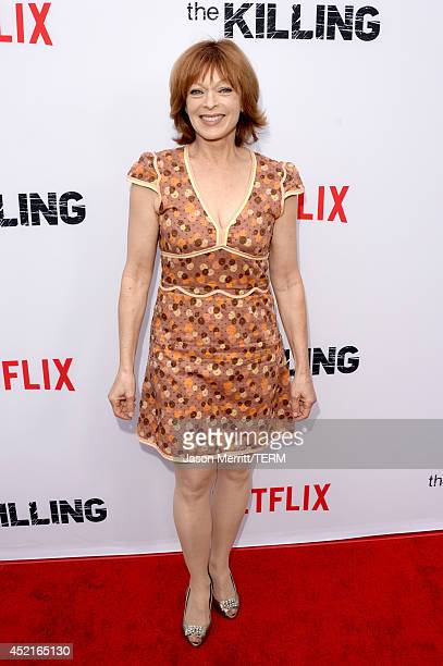 Actress Frances Fisher attends premiere of Netflix's The Killing season 4 at ArcLight Cinemas on July 14 2014 in Hollywood California