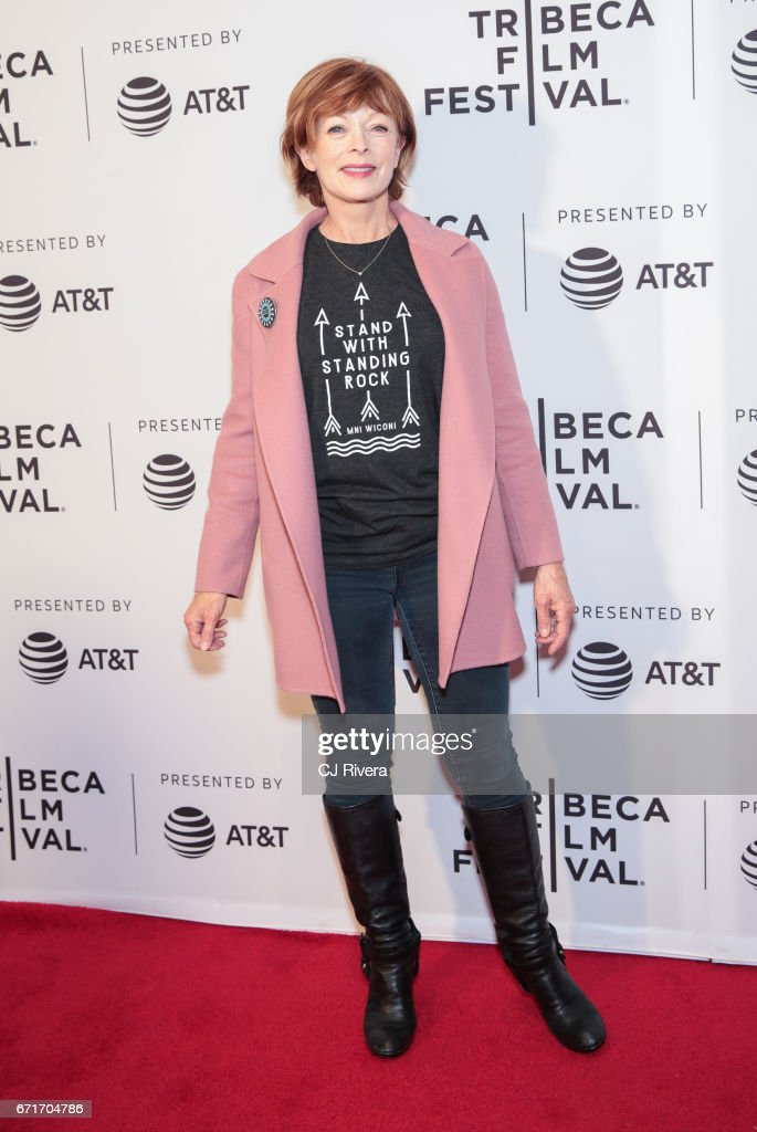Actress Frances Fisher attends the 2017 Tribeca Film Festival 'Awake: A Dream From Standing Rock' at Cinepolis Chelsea on April 22, 2017 in New York City.