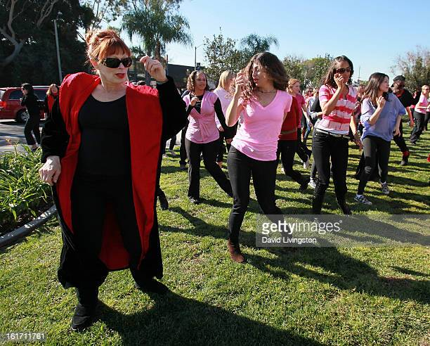 Actress Frances Fisher attends the kickoff for One Billion Rising in West Hollywood on February 14 2013 in West Hollywood California