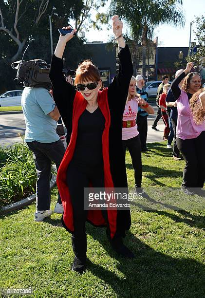 Actress Frances Fisher helps kickoff One Billion Rising on February 14 2013 in West Hollywood California