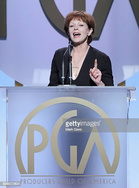 Actress Frances Fisher onstage at the 27th Annual Producers Guild Awards at the Hyatt Regency Century Plaza on January 23 2016 in Century City...