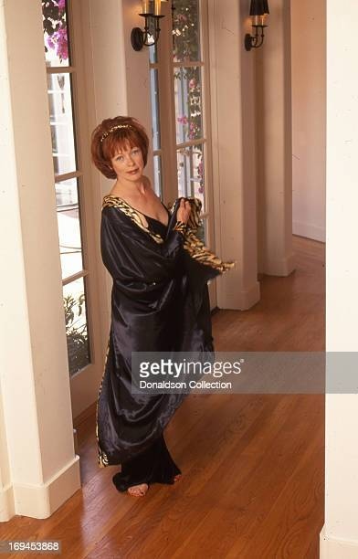 Actress Frances Fisher poses for a portrait session at home in 1996 in Los Angeles California