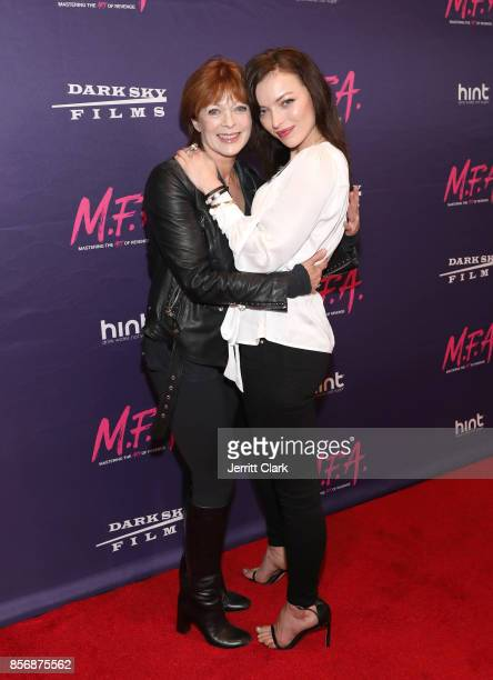 Actress Frances Fisher poses with her daughter/actress Francesca Eastwood during the Premiere Of Dark Sky Films' 'MFA' at The London West Hollywood...