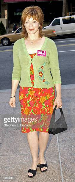 Actress Frances Fisher stands for photos before the start of the Planned Parenthood 'Stand Up For Choice' Extravaganza on April 24 2004 in Washington...