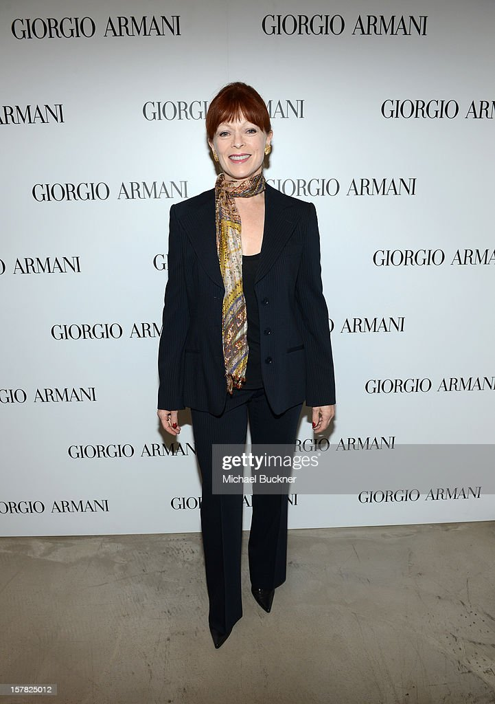 Actress Frances Fisher, wearing Giorgio Armani attends the Giorgio Armani Beauty Luncheon on December 6, 2012 in Beverly Hills, California.