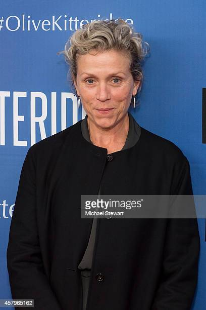 Actress Frances McDormand attends the 'Olive Kitteridge New York Premiere at SVA Theater on October 27 2014 in New York City