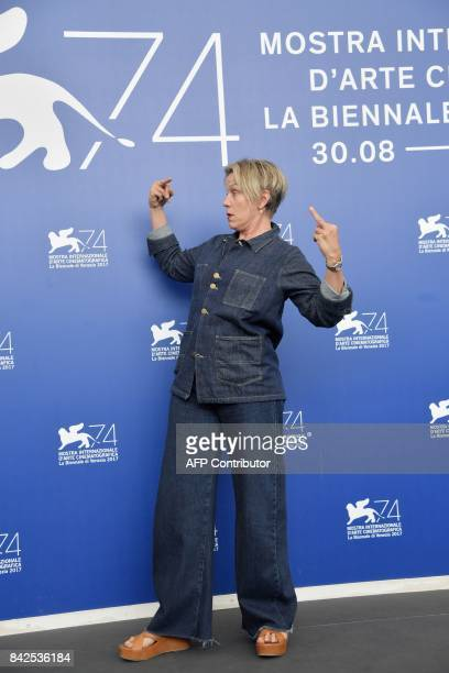 Actress Frances McDormand attends the photocall of the movie 'Three Billboards Outside Ebbing Missouri' presented in competition at the 74th Venice...