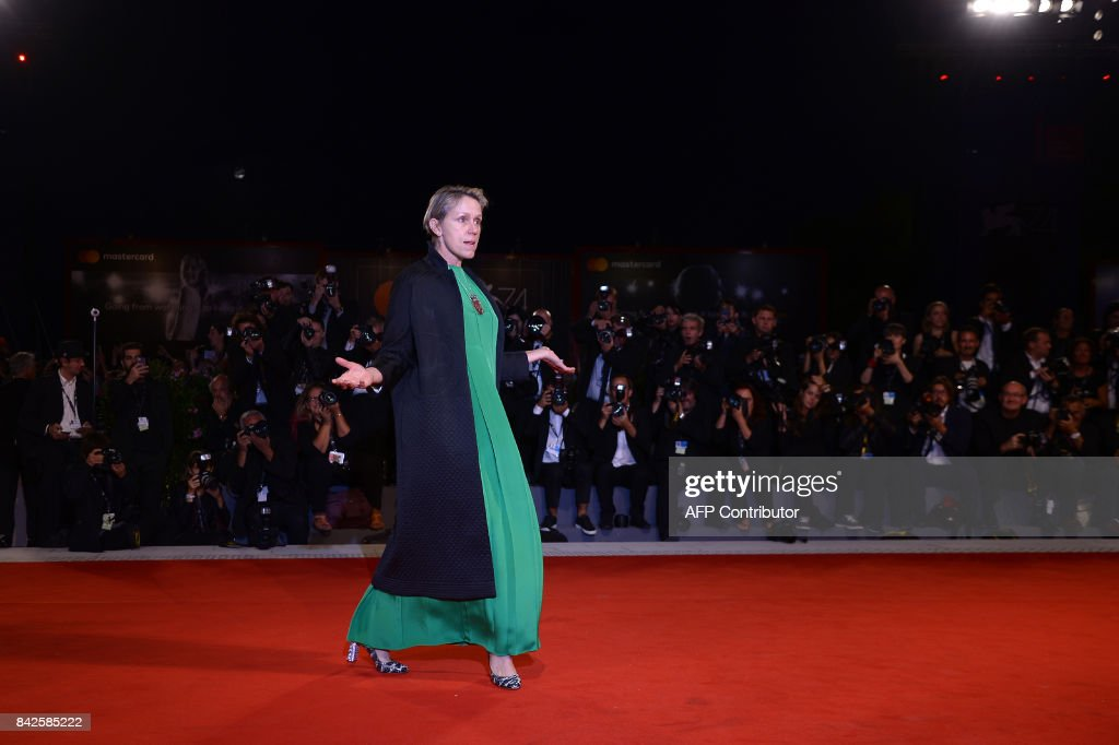 Actress Frances McDormand attends the premiere of the movie 'Three Billboards Outside Ebbing, Missouri' presented in competition at the 74th Venice Film Festival on September 4, 2017 at Venice Lido. / AFP PHOTO / Filippo MONTEFORTE