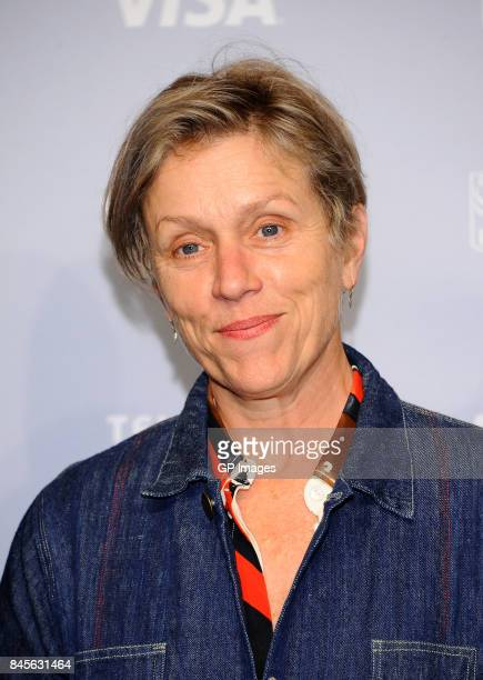 Actress Frances McDormand attends 'Three Billboards Outside Of Ebbing Missouri' press conference during 2017 Toronto International Film Festival at...